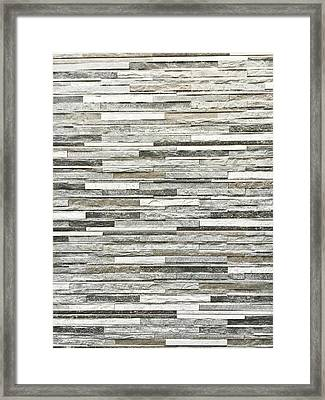 Stone Tiles Framed Print by Tom Gowanlock