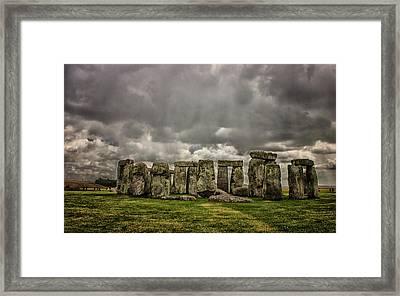 Stonehenge Framed Print by Martin Newman