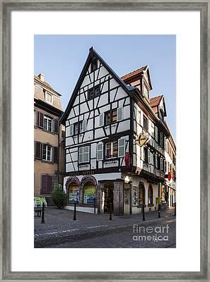 Streets Of Colmar Framed Print by Yefim Bam