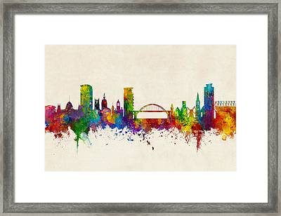 Sunderland England Skyline Framed Print