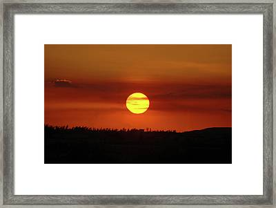 Framed Print featuring the photograph 4- Sunset by Joseph Keane