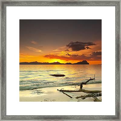 Sunset Framed Print by MotHaiBaPhoto Prints