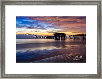 Sunset Naples Pier Florida Framed Print