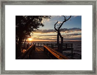 Framed Print featuring the photograph Sunset On The Cape Fear River by Willard Killough III