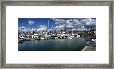 Sutton Harbour Plymouth Framed Print by Chris Day