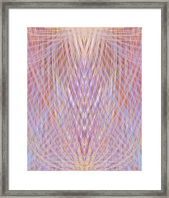 Symetric Harmony Pattern Framed Print by Sandrine Kespi