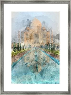 Taj Mahal In Agra India Framed Print by Brandon Bourdages