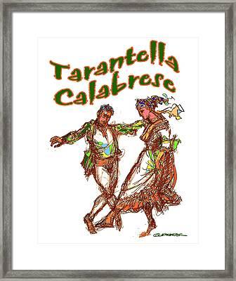 Tarantella Calabrese Framed Print by Dean Gleisberg