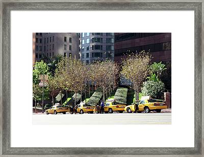4 Taxis In The City Framed Print
