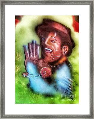Slide Some Oil To Me Framed Print