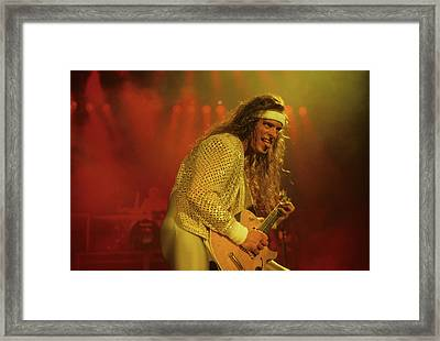Ted Nugent Framed Print by Rich Fuscia