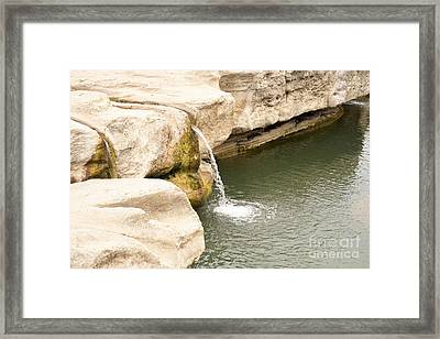 Framed Print featuring the photograph Texas - Mckinney Falls State Park  by Ray Shrewsberry