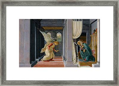 The Annunciation Framed Print by Sandro Botticelli