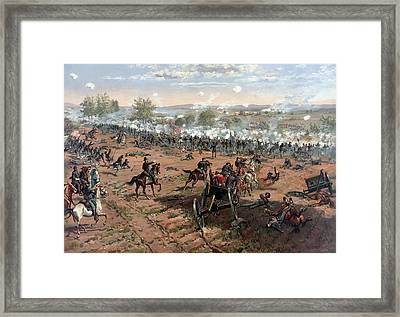 The Battle Of Gettysburg  Framed Print
