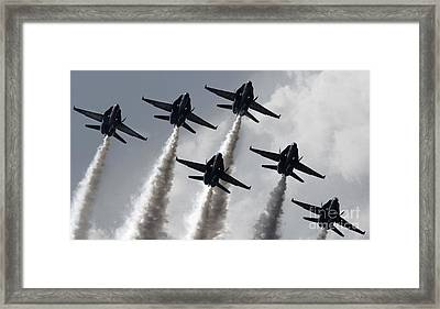 the Blue Angels US Navy  Framed Print by Celestial Images
