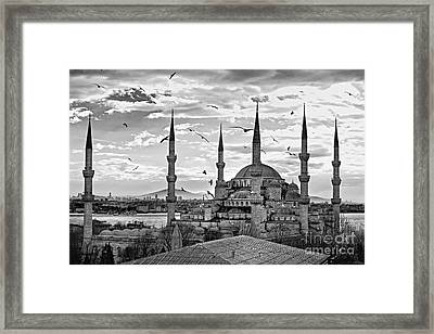 The Blue Mosque - Istanbul Framed Print by Luciano Mortula