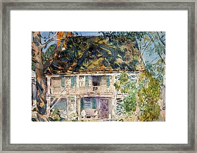 The Brush House Framed Print by Childe Hassam
