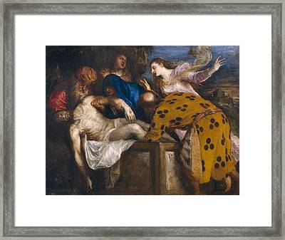 The Burial Of Christ Framed Print by Titian