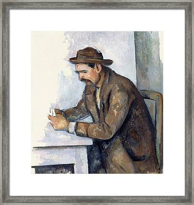 The Cardplayer  Framed Print by Paul Cezanne
