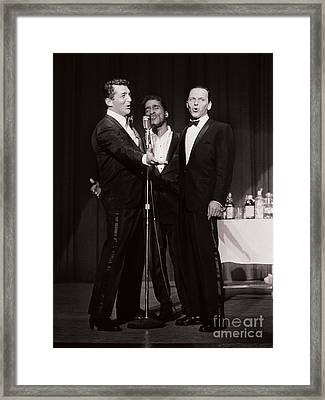 The Cast Of Ocean's 11 And Members Of The Rat Pack Framed Print