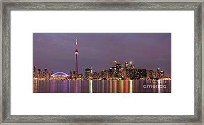 The City Of Toronto Framed Print