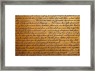 The Declaration Of Independence  Framed Print