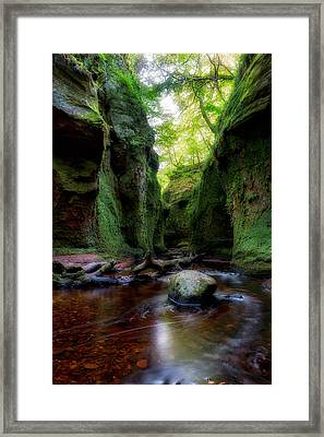 The Devil Pulpit At Finnich Glen Framed Print