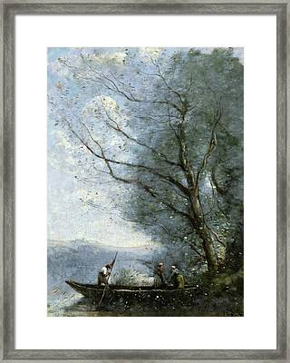 The Ferryman Framed Print by Camille Corot