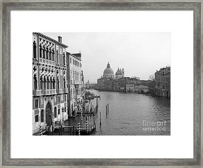 The Grand Canal In Venice Framed Print