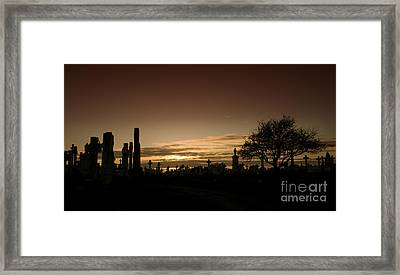 The Graveyard Framed Print by Angel Ciesniarska