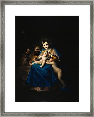 The Holy Family Framed Print by Francisco Goya