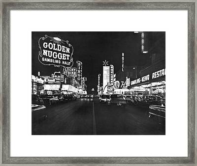 The Las Vegas Strip Framed Print