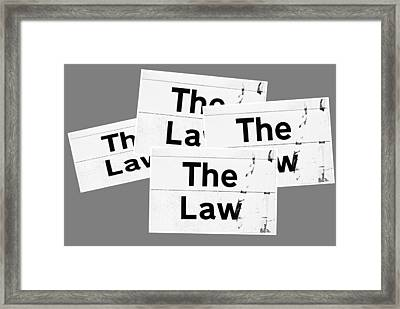 The Law Framed Print by Tom Gowanlock
