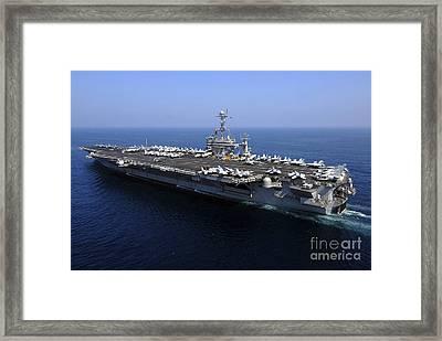 The Nimitz-class Aircraft Carrier Uss Framed Print by Stocktrek Images