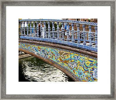 The Plaza De Espana - Seville - Spain Framed Print by Jon Berghoff
