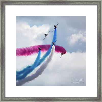 The Red Arrows Framed Print by Nichola Denny