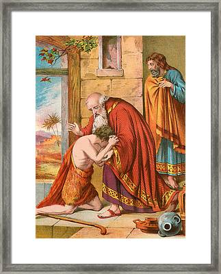 The Return Of The Prodigal Son Framed Print by English School