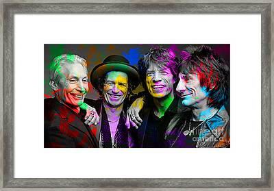 The Rolling Stones Framed Print by Marvin Blaine