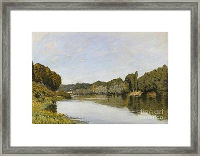 The Seine At Bougival Framed Print
