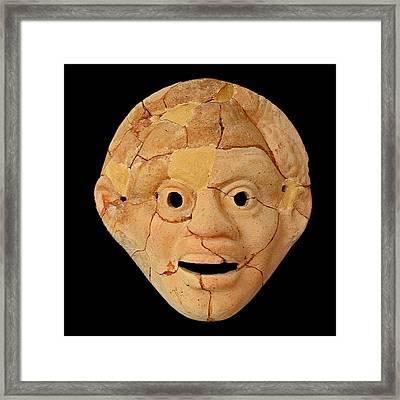 Theatrical Masks. Graecoroman Period. Framed Print