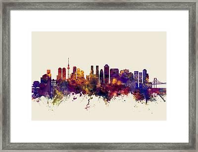 Tokyo Japan Skyline Framed Print