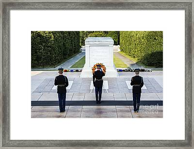 Tomb Of The Unknown Soldier Framed Print by John Greim