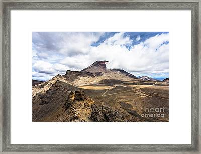 Tongariro Alpine Crossing In New Zealand Framed Print