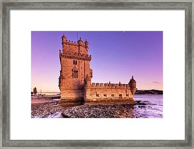 Tower Of Belem Framed Print by Andre Goncalves