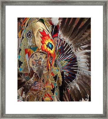 Traditional Dancer Detail Framed Print by Tim McCarthy