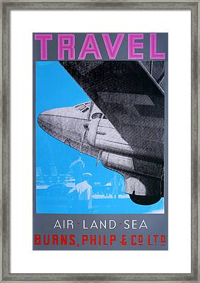 Travel Air Land Sea Framed Print by David Studwell