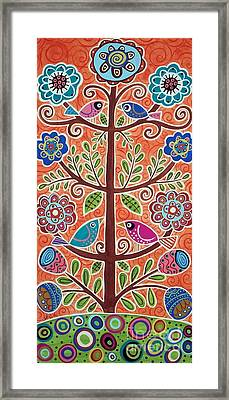 4 Tree Birds Framed Print by Karla Gerard