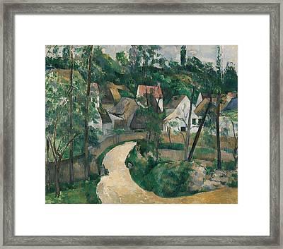 Turn In The Road Framed Print by Paul Cezanne