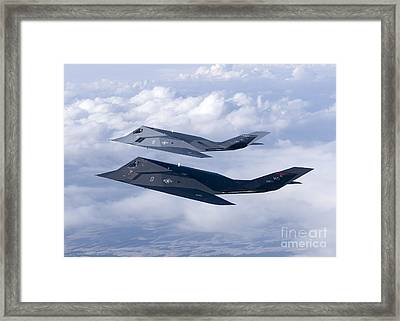Two F-117 Nighthawk Stealth Fighters Framed Print