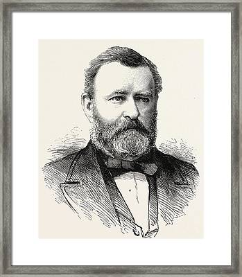 Ulysses S Grant Framed Print by American School